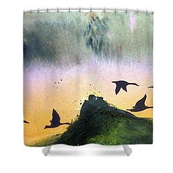 Lake Lucerne Shower Curtain by Ed  Heaton