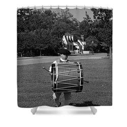 Drummer Boy Shower Curtain by Eric Liller