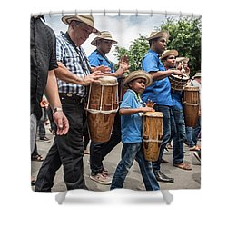 Drummer Boy In Parade Shower Curtain