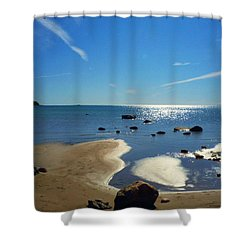 Drummond Shore 1 Shower Curtain by Desiree Paquette
