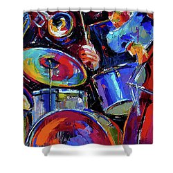 Drums And Friends Shower Curtain