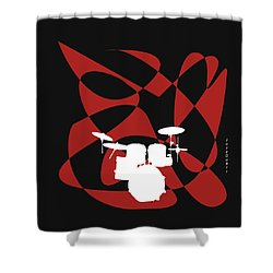 Drums In Black Strife Shower Curtain