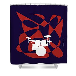 Drums In Purple Strife Shower Curtain
