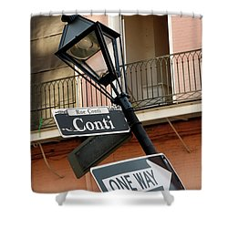 Drunk Street Sign French Quarter Shower Curtain