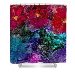 Drunken Flowers Shower Curtain