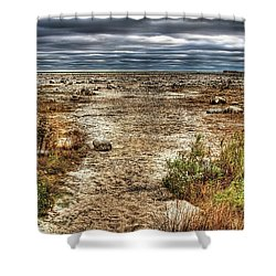 Dry Beach Shower Curtain