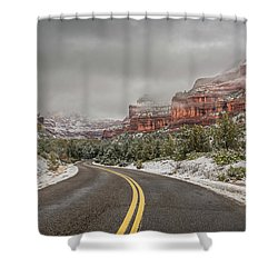 Boynton Canyon Road Shower Curtain by Racheal Christian