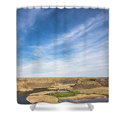 Shower Curtain featuring the photograph Dry Fall, Washington by Jingjits Photography