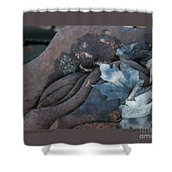 Dry Leaves And Old Steel-ix Shower Curtain
