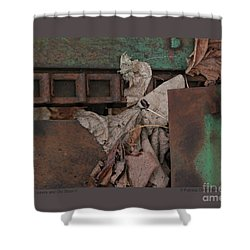 Shower Curtain featuring the photograph Dry Leaves And Old Steel-v by Patricia Overmoyer