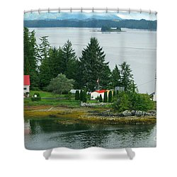 Dryad Point Lighthouse Shower Curtain