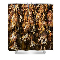 Drying Fish Heads - Iceland Shower Curtain