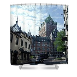 Shower Curtain featuring the photograph du Fort Chateau Frontenac by John Schneider