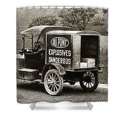 Du Pont Co. Explosives Truck Pennsylvania Coal Fields 1916 Shower Curtain