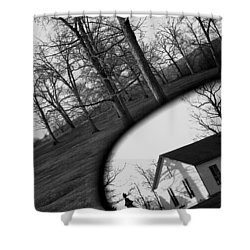 Duality - A Black And White Photograph Symbolically Representing The Gravity Of Choice  Shower Curtain