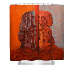Duality Shower Curtain by J W Kelly