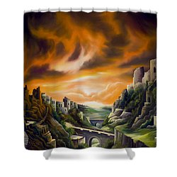 Duallands Shower Curtain by James Christopher Hill