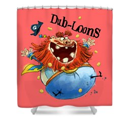 Dub-loons Shower Curtain by Andy Catling