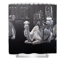 Dubai Camels Shower Curtain