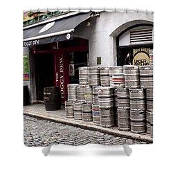 Dublin Beer Kegs Shower Curtain by Rae Tucker