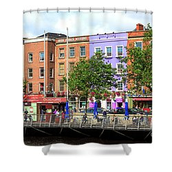 Dublin Building Colors Shower Curtain by John Rizzuto