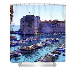 Dubrovnik Harbour Shower Curtain
