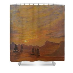 Shower Curtain featuring the painting Dubrovnik by Julie Todd-Cundiff