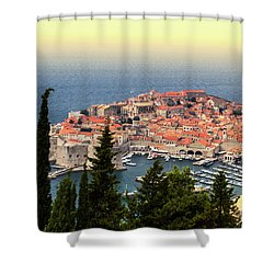 Dubrovnik Old City On The Adriatic Sea, South Dalmatia Region, C Shower Curtain