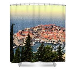 Dubrovnik Old City On The Adriatic Sea, South Dalmatia Region, C Shower Curtain