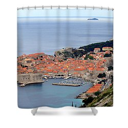 Dubrovnik Shower Curtain by Ramona Johnston
