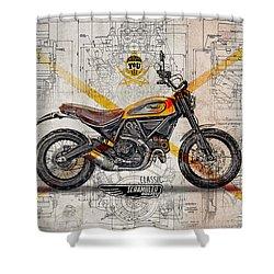 Ducati Scrambler Classic Shower Curtain