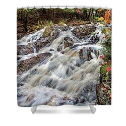 Duchesnay Falls Shower Curtain by Brian Boudreau