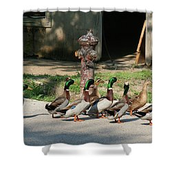 Duck And Hydrant Shower Curtain