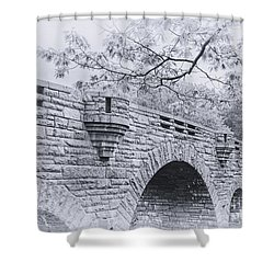 Duck Brook Bridge In Black And White Shower Curtain