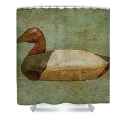 Shower Curtain featuring the digital art Duck Decoy Number One  by Randy Steele