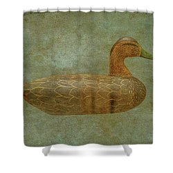 Shower Curtain featuring the digital art Duck Decoy Number Three by Randy Steele