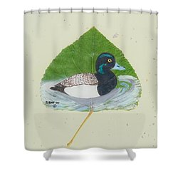 Duck On Pond #2 Shower Curtain
