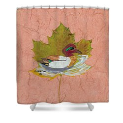 Duck On Pond Shower Curtain