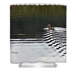 Duck On Ripple Wake Shower Curtain