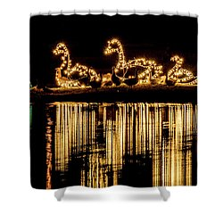 Duck Pond Christmas Shower Curtain