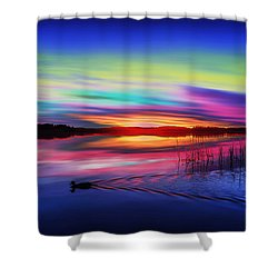 Duck Sunset Shower Curtain