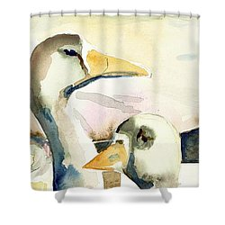 Ducks And Geese Shower Curtain