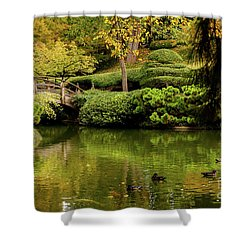 Shower Curtain featuring the photograph Ducks In Summertime by Iris Greenwell