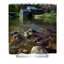 Ducks View Of Mabry Mill Shower Curtain