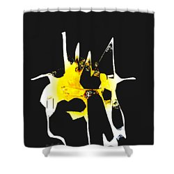 Duel Shower Curtain by Asok Mukhopadhyay