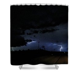 Dueling Lightning Bolts Shower Curtain