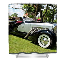 Shower Curtain featuring the photograph Duesenberg Vii by Michiale Schneider