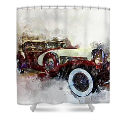 Duesenberg Watercolor Shower Curtain