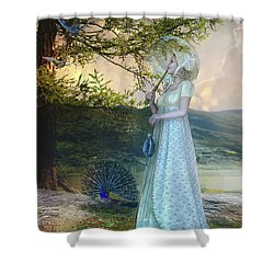Duet Shower Curtain by Mary Hood