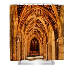 Duke Chapel Shower Curtain by Betsy Foster Breen